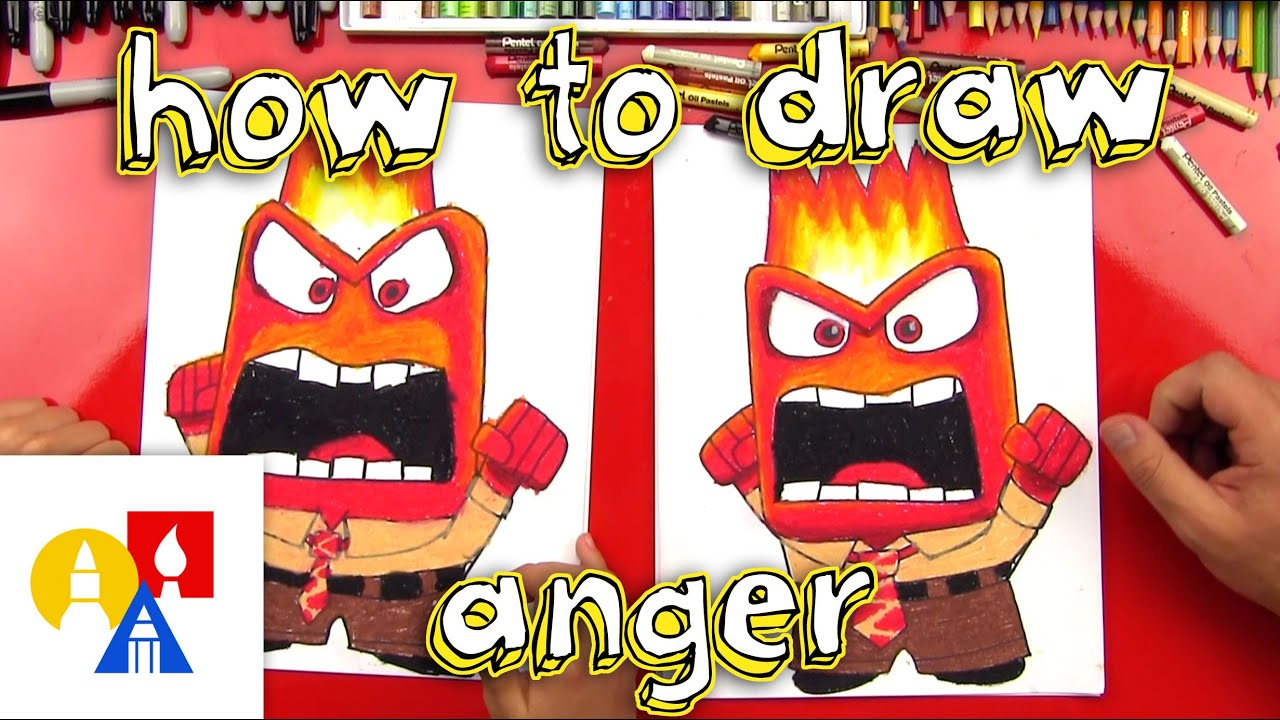 Uncategorized Art Pictures For Kids To Draw how to draw anger from inside out youtube