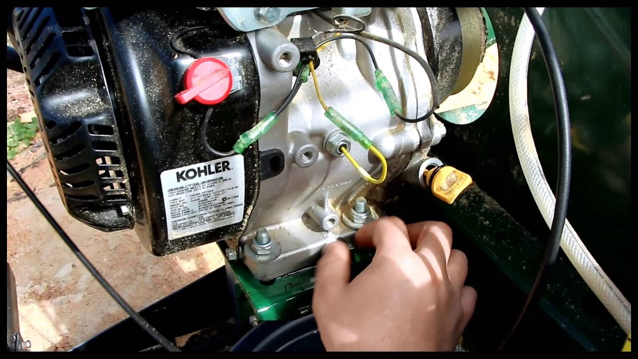 kohler ch395 oil change command pro 9 5hp woodland mills hm126
