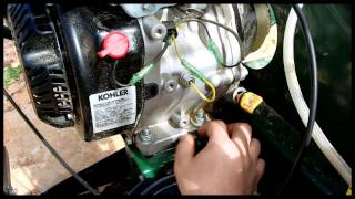 kohler ch395 oil change command pro 9.5hp woodland mills hm126