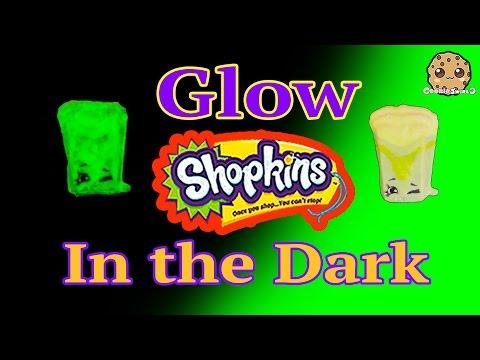 DIY GLOW IN THE DARK Shopkins Season 3 Custom Halloween Inspired Painted Craft Toy Cookieswirlc