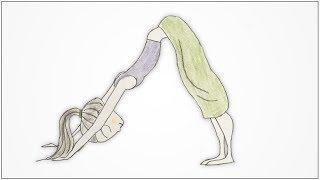 how to draw a yoga poses - Adho Mukha Svanasana