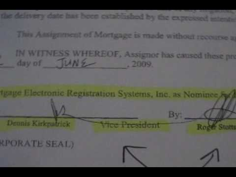 Bank Mortgage Fraud pt 2 of 5 ASSIGNMENT TRANSFER FRAUD...ANY CONFLICTS??
