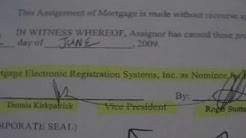 Bank Mortgage Fraud pt 2 of 5 ASSIGNMENT TRANSFER FRAUD.ANY CONFLICTS??
