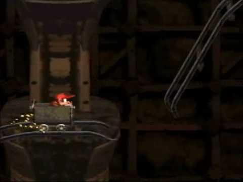 Donkey Kong Country - 101% Walkthrough, Part 7 - Mine Kart Carnage