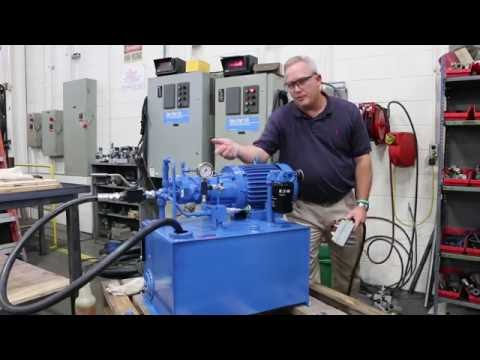 Variable Displacement Pump Hydraulic Power Unit Startup Demo