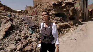 شاهد: انجلينا جولي تزور الموصل في ثاني أيام عيد الفطر