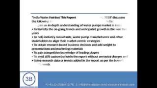Bharat Book Presents : India Water Pumps Market Forecast & Opportunities, 2018