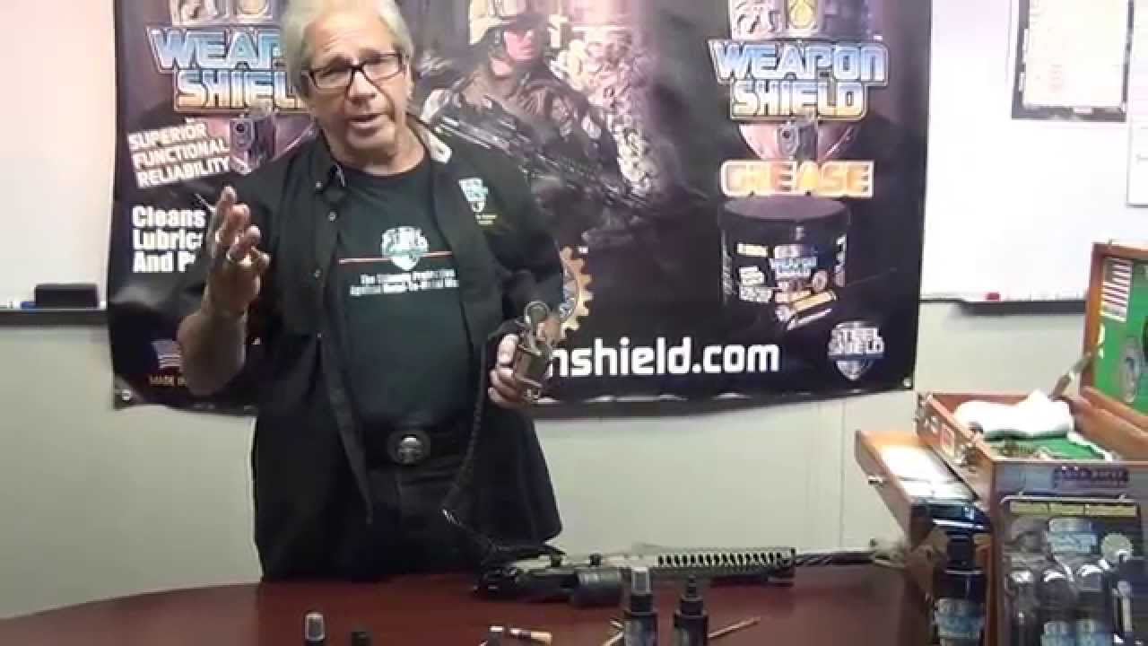 Weapon Shield - Using Weapon Shield CLP and Solvent - YouTube