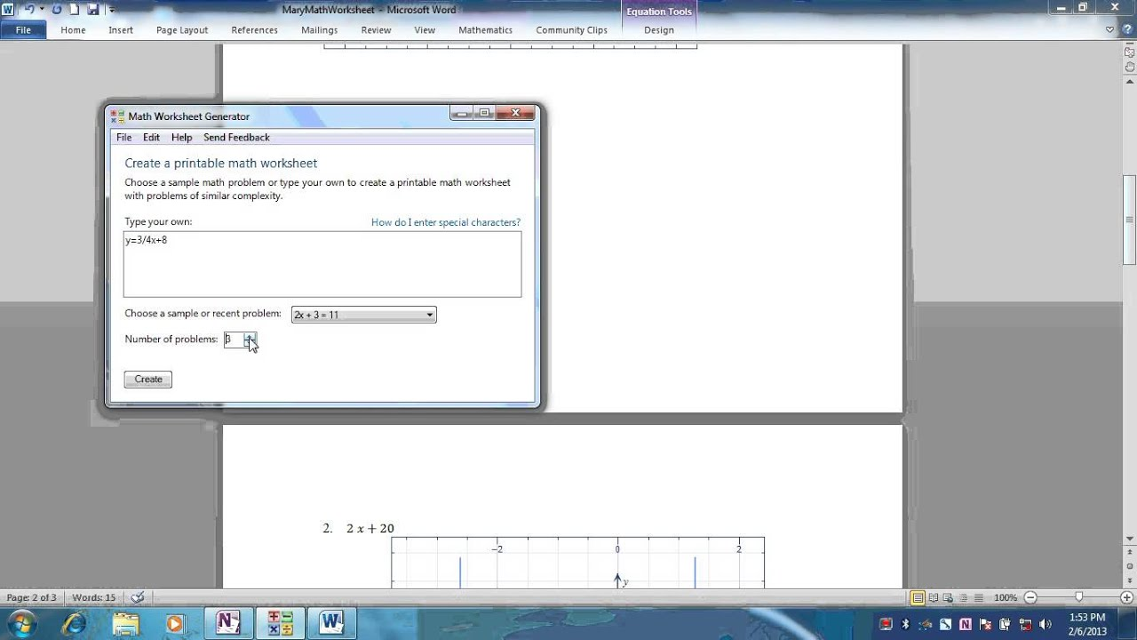 How To Use Math Worksheet Generator