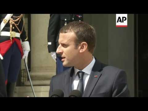 Macron hosts Netherlands PM Rutte in Paris