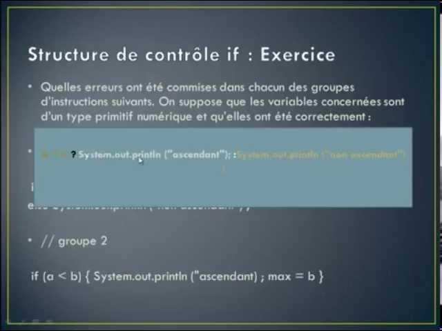 Exercice Java N° 5 :  Structure de contrôle if