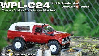 RCUniverse review video for the Geekbuying.com WPL-C24 1:16 Scale 4 4 Crawilng Truck