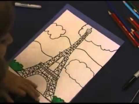 رسم برج ايفل Youtube