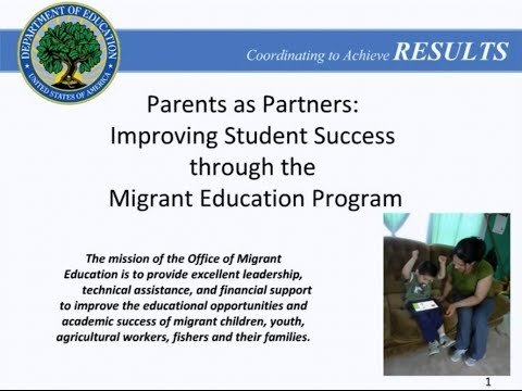 Parent Involvement Webinar for OME, March 5, 2014