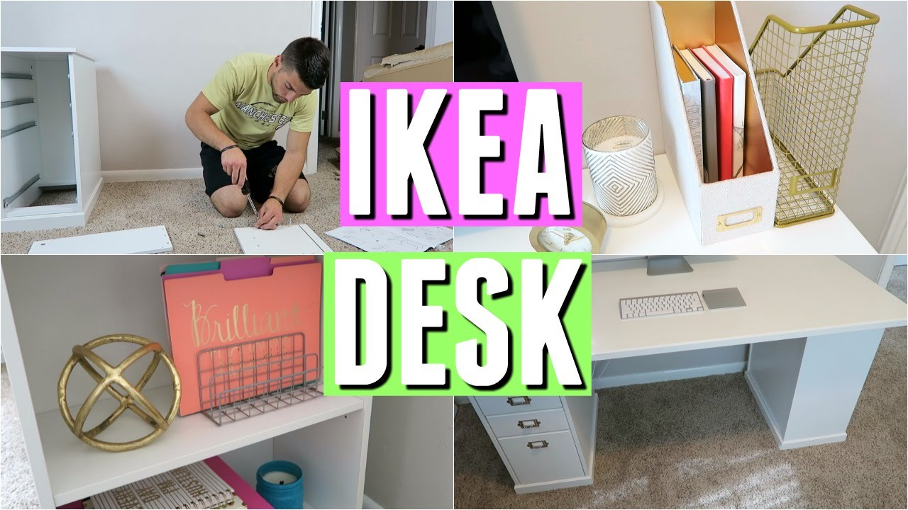 Ikea desk review assembly and decor youtube