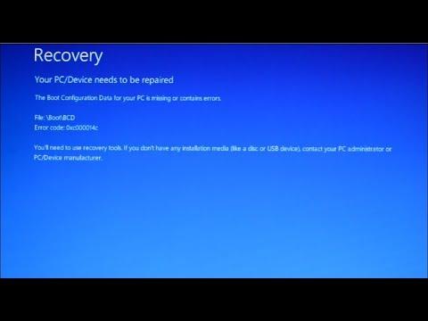 How To Fix Windows 10 Boot Error File Boot Bcd Error Code