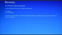 "How to Fix windows 10 boot error "" File:bootBCD Error code: 0xc000014c """