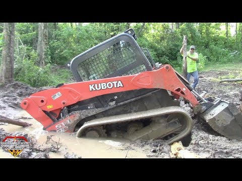 SWAMPED KUBOTA SKID STEER RESCUE