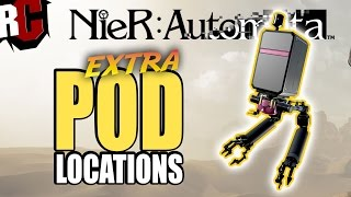 NieR Automata - Pod Hunter Trophy Guide - Extra Pod Locations (How to find more Attack Pods)