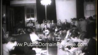 Middle East Crisis 1958 - Pending United Nations Summit talks newsreel archival footage