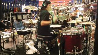 "Jason Bittner DRUM CLINIC ""FIRE FROM THE SKY"" Shadows Fall 4/12/2013 GUITAR CENTER Charlotte, NC"