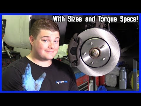 How to Replace Front Brakes Dodge Grand Caravan 2008-2018