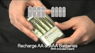 видео Зарядка на солнечных батареях Goal Zero Guide 10 Plus Solar Kit