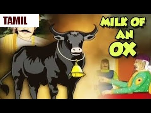 Akbar Birbal Moral Stories | Milk Of An Ox | Animated Tamil Stories | Sunflower Kidz