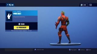 Fortnite Pure Salt Emote From Behind? (SECRET?!?)