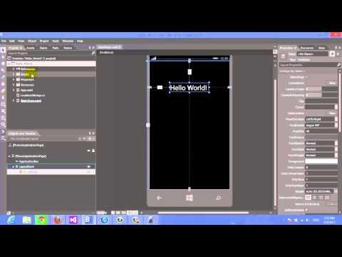 [Code A World] -Hello World- Windows Phone 8 Application
