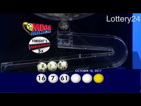 2017 10 10 Mega Millions Numbers and draw results