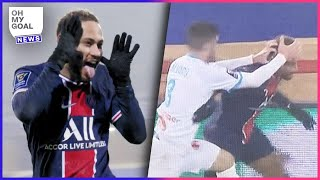 Neymar clashed with Álvaro AGAIN, a player with a history of alleged racist abuse | Oh My Goal