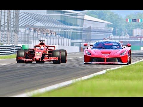 Ferrari F1 2018 vs La Ferrari   Monza