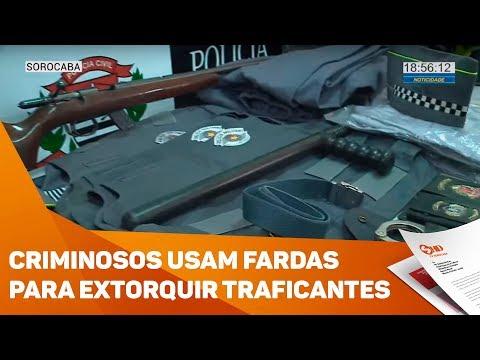 Criminosos usavam fardas da PM para extorquir traficantes - TV SOROCABA/SBT