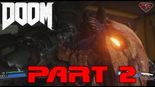 """DOOM Walkthrough Part 2 Gameplay """"Know Your Enemy"""" 1080p 60fps