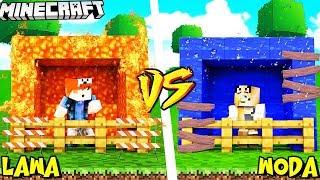 BAZA Z LAWY VS BAZA Z WODY - MINECRAFT | Vito vs Bella