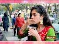 Meera and Vivaan's having pani puri competition