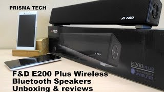 F&D E200 plus wireless bluetooth speakers