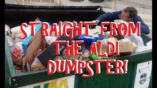 TONS of Free Food in the ALDI Dumpster! Oh Man, This Is A Go...