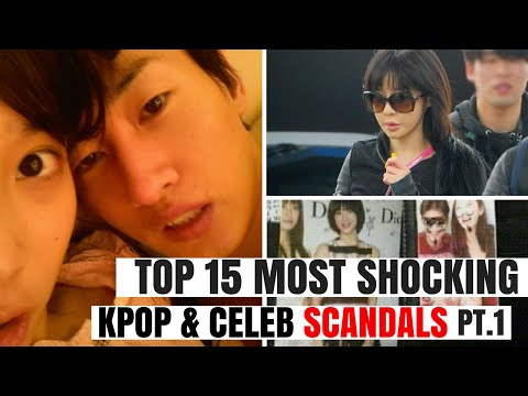 Top 15 Most SHOCKING Kpop & Korean Celebrity SCANDALS of All Time Pt.1 | HOT TOPIC
