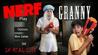 Granny Horror Game In Real Life Nerf Hide And Seek Survival Granny Na Vida Real Batalha De Nerf