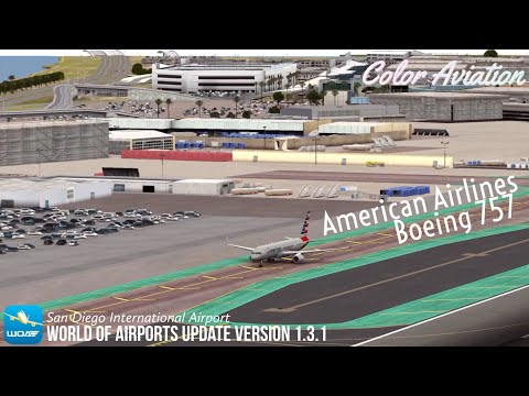 World of Airports new Boeing 757 - American Airlines in San Diego International Airport!  
