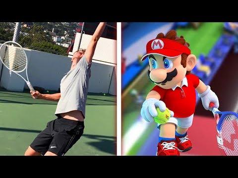 Professional Tennis Player Tries Mario Tennis Aces