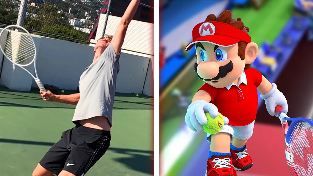 Professional Tennis Player Tries Mario Tennis Aces