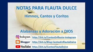 Canto ME DICE QUE ME AMA - Flauta Dulce