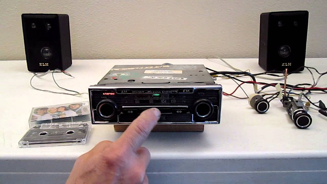 1970 Becker Mexico AM-FM Cassette Car Radio showing operation ...
