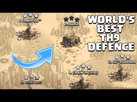 TH9 (Town Hall 9) World's Best Defence | TH9 Mega Troll War Base - Clash Of Clans - COC