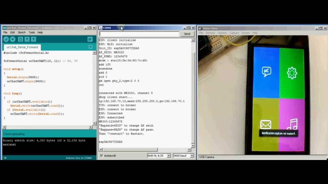Arduino and ESP8266 with Android application