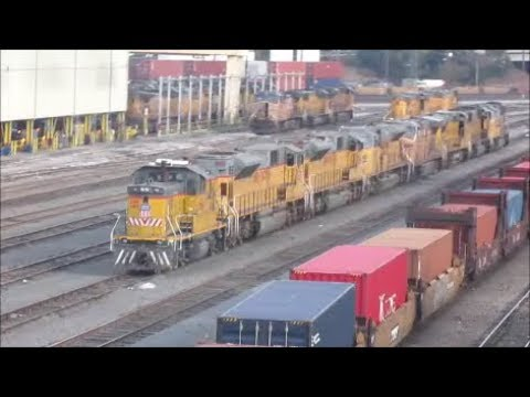 12/23/17 Some nice trains around the ports of Long Beach and some more in LA
