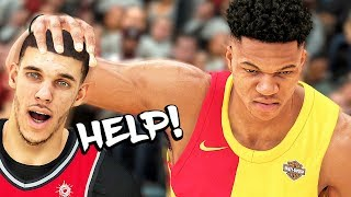 LONZO BALL SCORELESS AGAINST GIANNIS! END OF SEASON! - NBA 2K19 MyCAREER #121